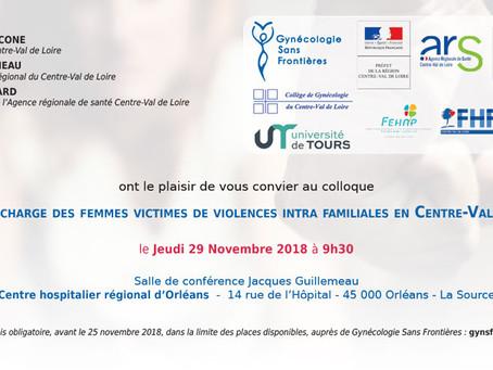 Colloque violences intrafamiliales Orléans le 29/11/2018