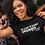 Thumbnail: Blacker Women's Crop Tee White Text