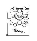 8140-20 МОДУЛЬ СМЕННЫЙ для пластинчатых контактов