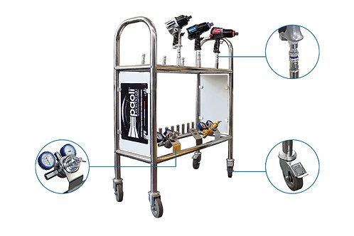 Разборная подставка для гайковертов, регуляторов давления воздуха и аксессуаров