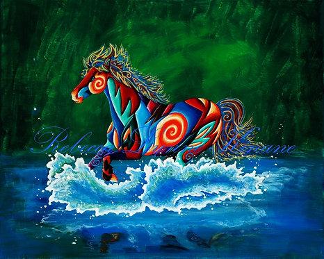"11""x14"" Fine Art Print- Wild, Wild West Series: Cowboy Life, Wild Horses"