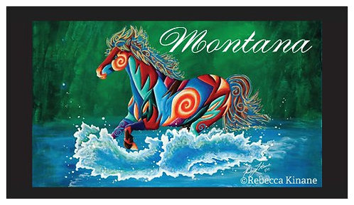 2x3 Vinyl Magnet- Wild, Wild West Series: Cowboy Life, Wild Horses