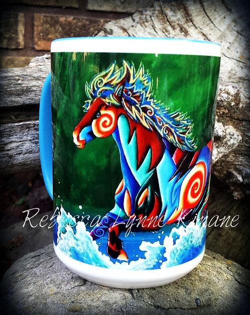 15 oz. Coffee Mug- Wild, Wild West Series: Cowboy Life, Wild Horses