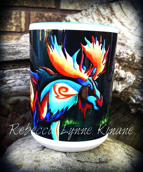 15 oz. Coffee Mug- Horns & Antlers Series: Big Game Animals