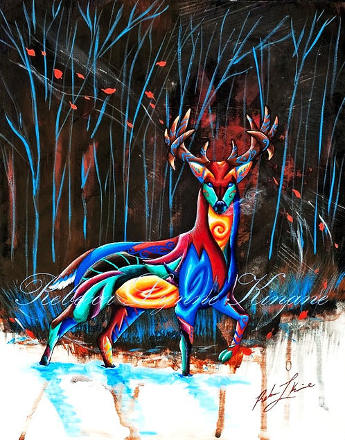 "11""x14"" Fine Art Print- Horns & Antlers Series: Big Game Animals"