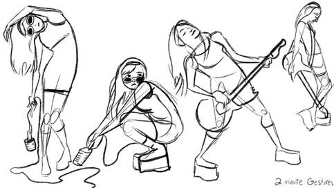 Rocker Girl - 2 Minute Gestures