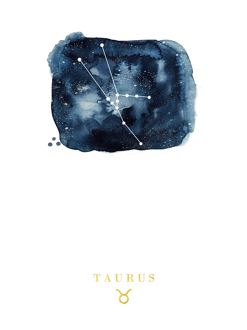 Taurus Zodiac Constellation Illustration
