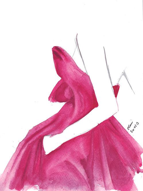 Magenta Gown