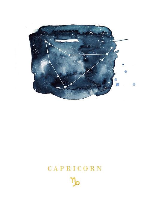 Capricorn Zodiac Constellation Illustration