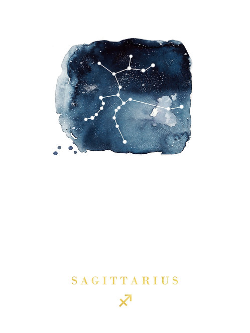 Sagittarius Zodiac Constellation Illustration