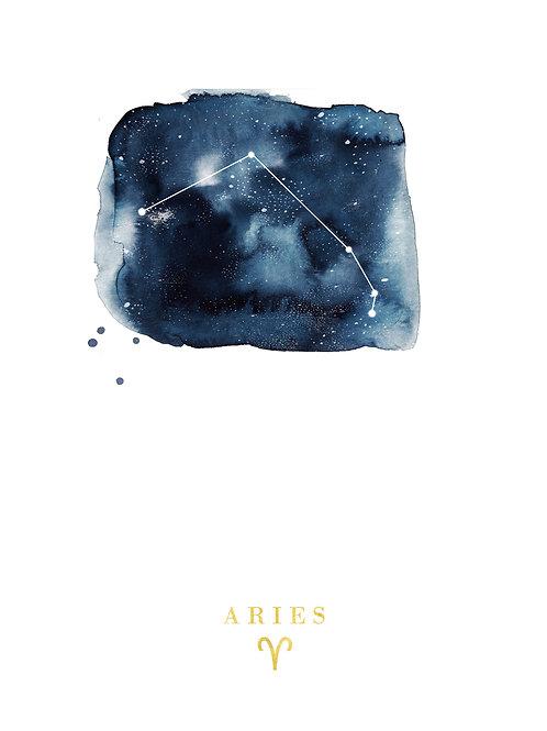Aries Zodiac Constellation Illustration