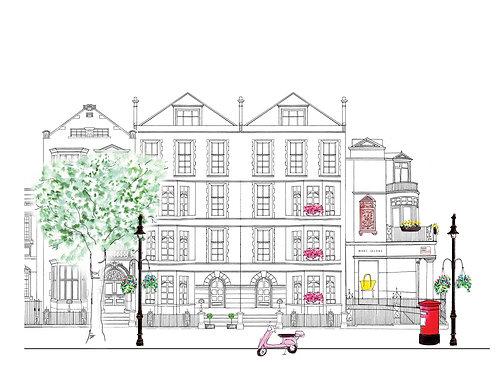 London Street Scene - Mount Street meets Audley St