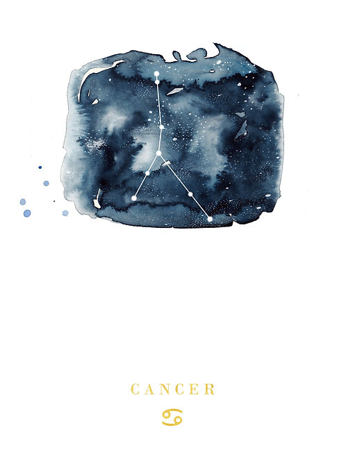 Cancer Zodiac Constellation Illustration