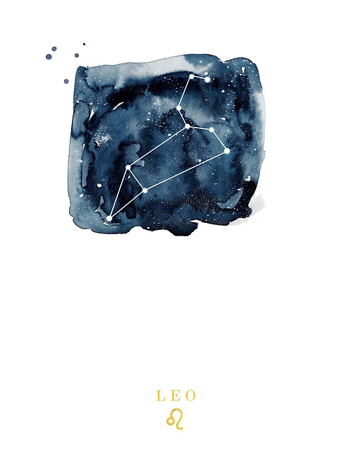 Leo Zodiac Constellation Illustration