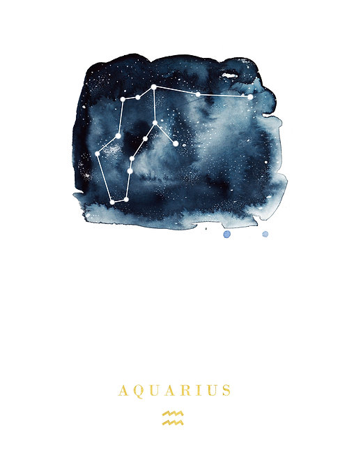 Aquarius Zodiac Constellation Illustration