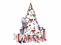 Attollo Christmas Tree with Woman