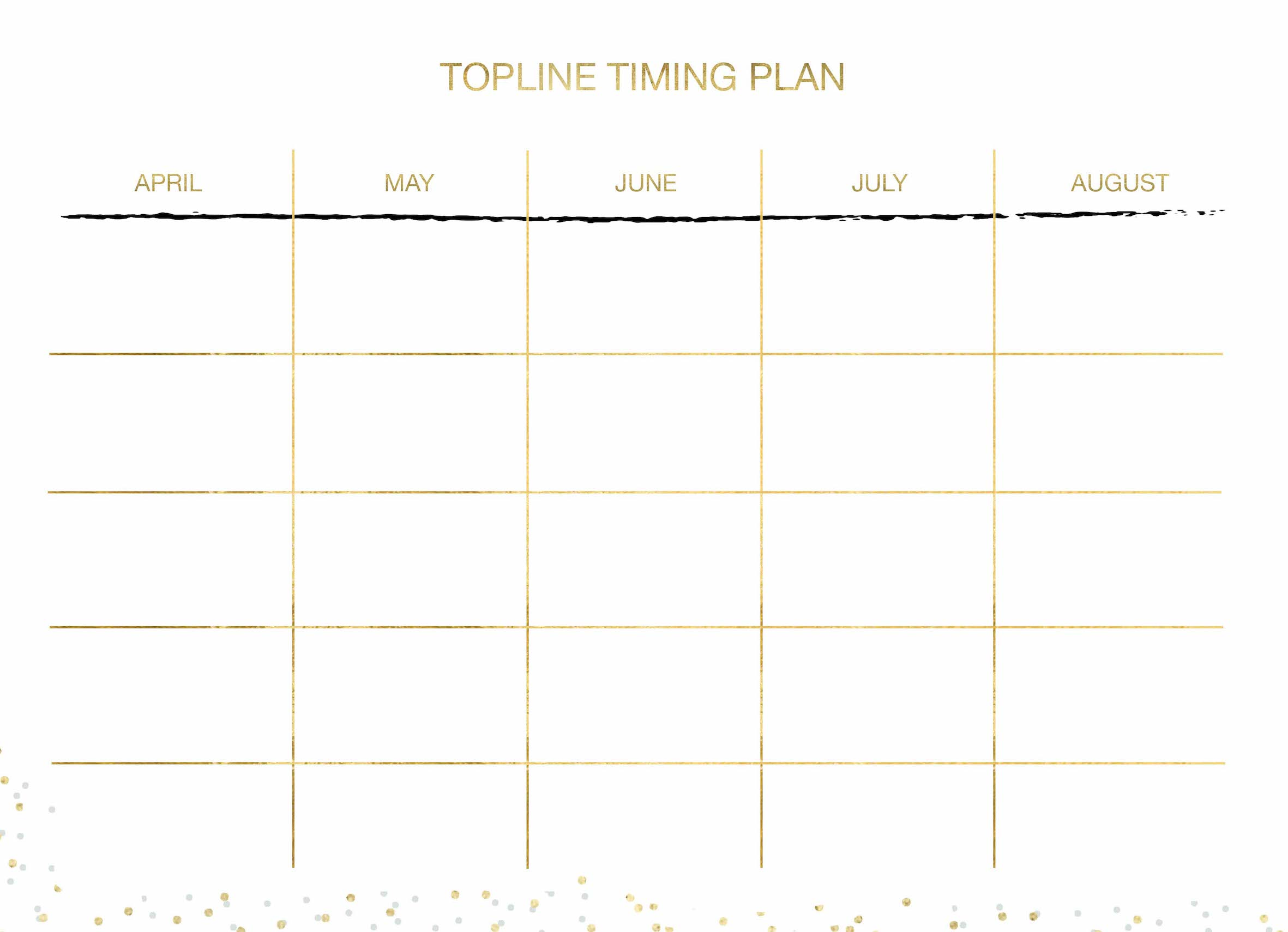 Topline Timing plan