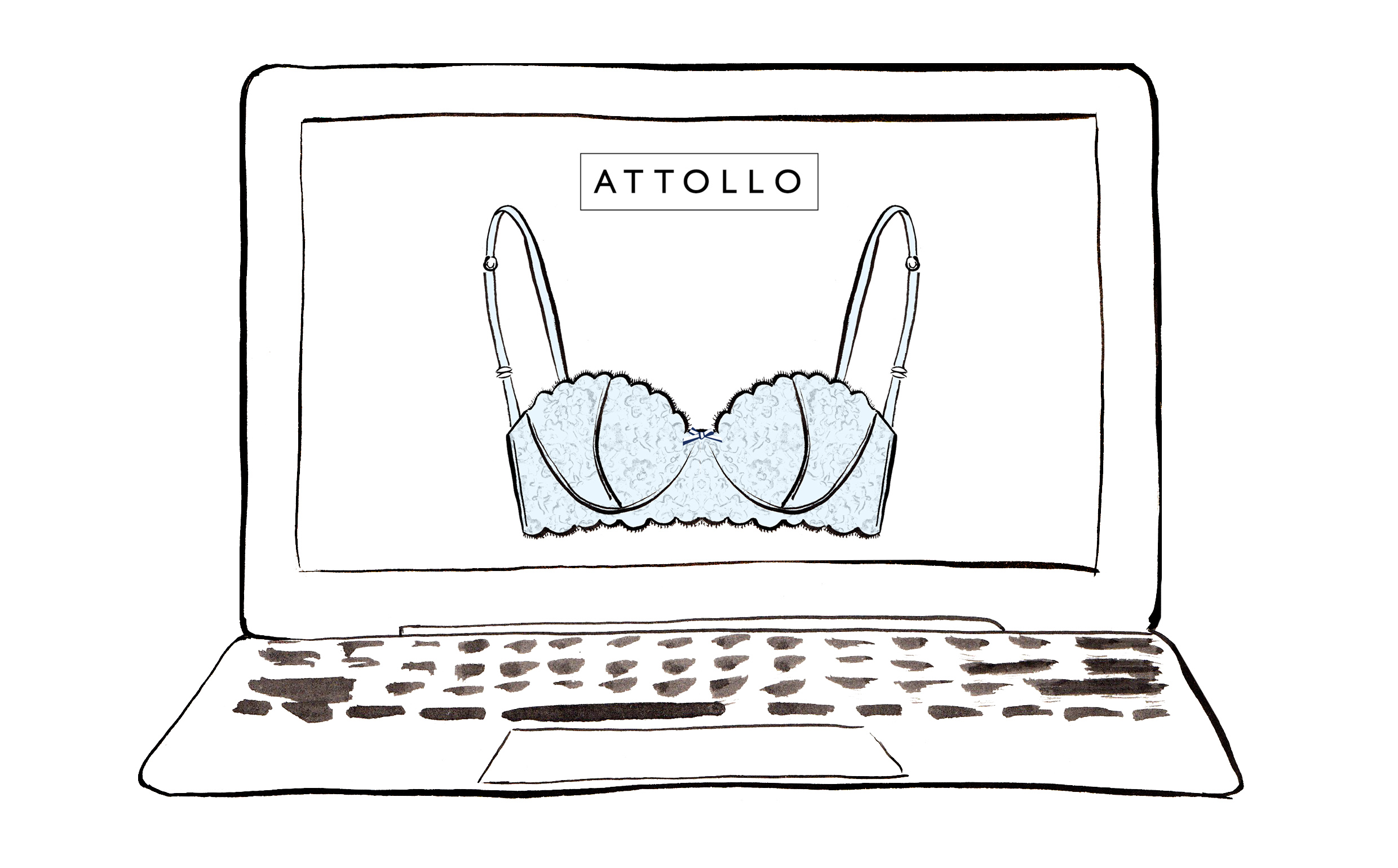 Laptop With Bra