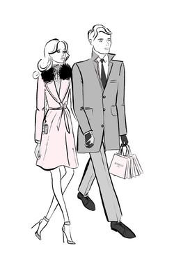 Couple Walking In
