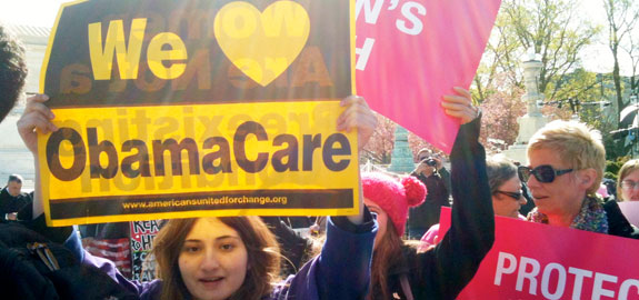 People supporting the ACA