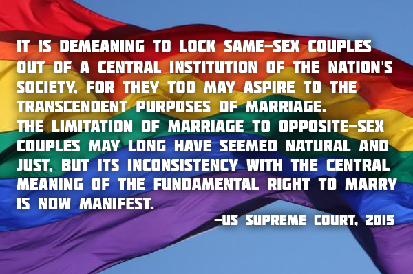 From the ruling by the Supreme Court of the United States, 26 June 2015