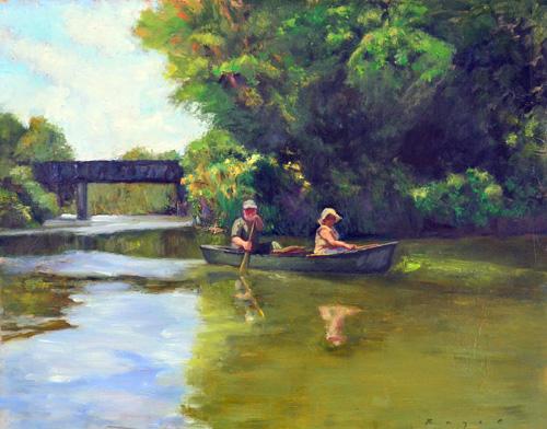 Melanie McGee - Talledega Creek - Oil 16 x 20 w.jpg