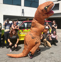 This was actually an event I was helping host at my workplace but I will dress up in a dinosaur outfit in 90+ degree weather to make everyone laugh