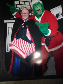The Grinch with our Senior Queen