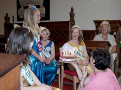 Celebrating Leah's birthday