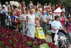 Parade entering the park