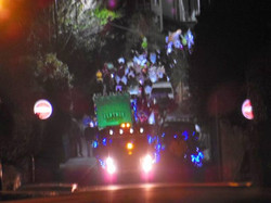 Lantern Parade coming up the hill
