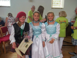 Princesses giving out the prizes