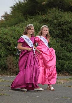 Junior Princesses entering