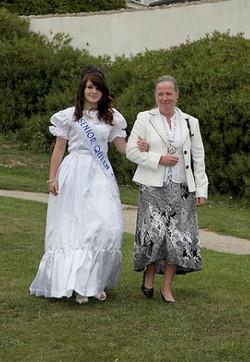 Senior Queen entering