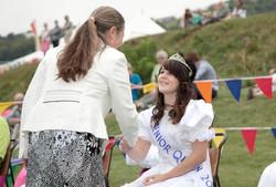 Senior Queen being crowned