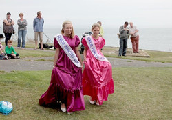 Senior Princesses entering