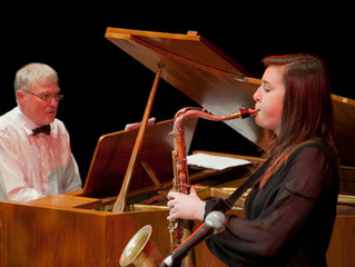Saxophonist Emma Johnson (2012 finalist) performs with NYJO.