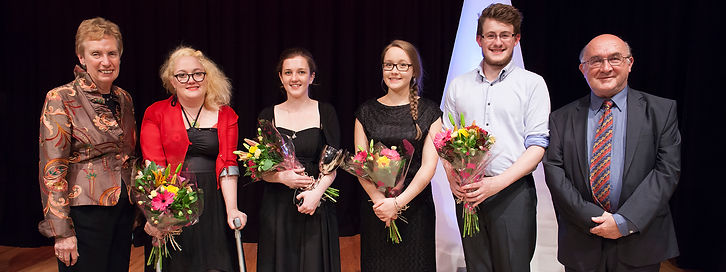 Four young musicians award ceremony - PYMB 2014 Finalists