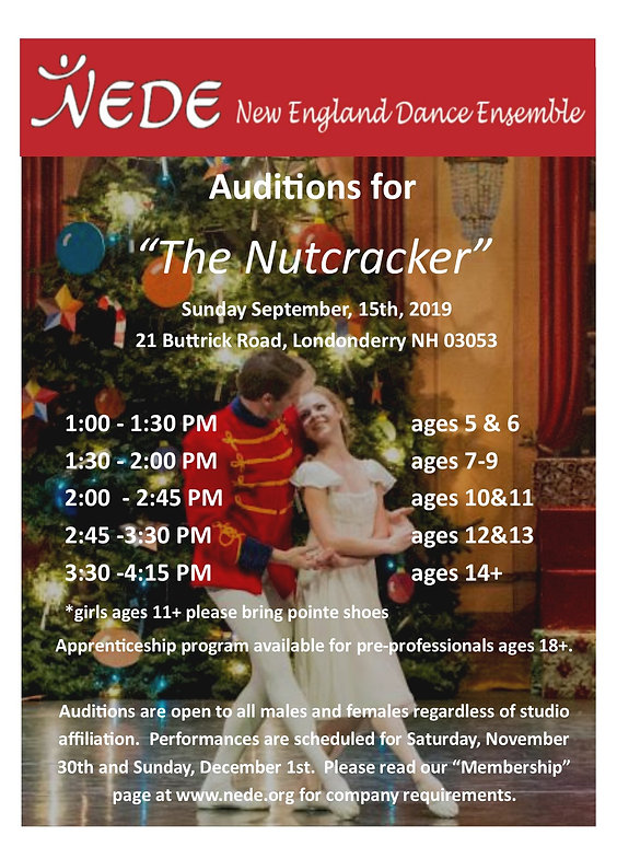 Auditions | nede