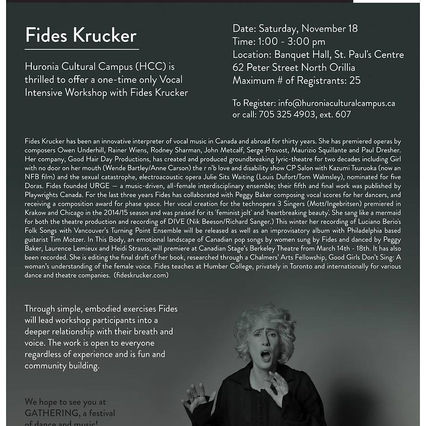 Fides Krucker: Voice Workshop