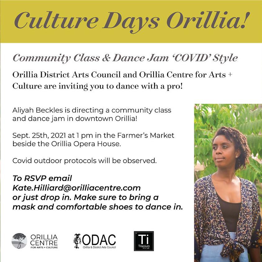 Culture Days Orillia - Dance Jam!
