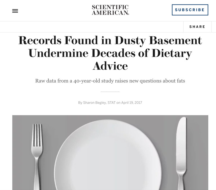 Fat Advice is Wrong - Scientific American