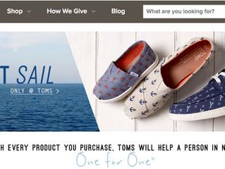 הפילנתרופיה של טומס שוז (Toms Shoes) אל מול סין