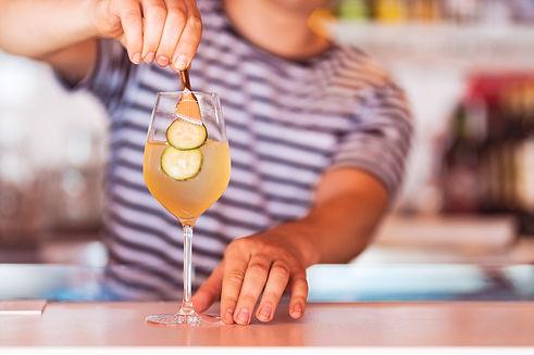 Ravintola Båtin drinkit ovat spritz-henkisiä juomia.