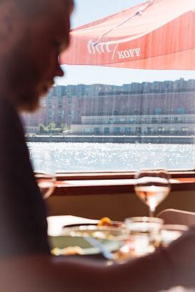 Ravintola Båtin ruokasalista on merinäköala.