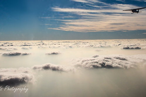 Digital Image: Flying Above the Clouds