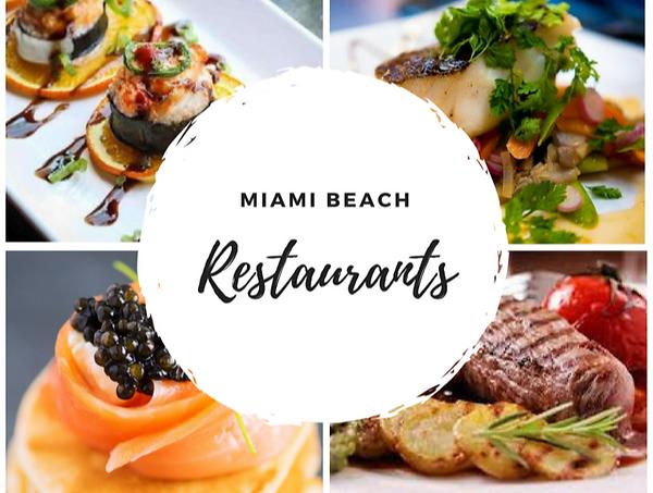 Miam Beach Restaurants