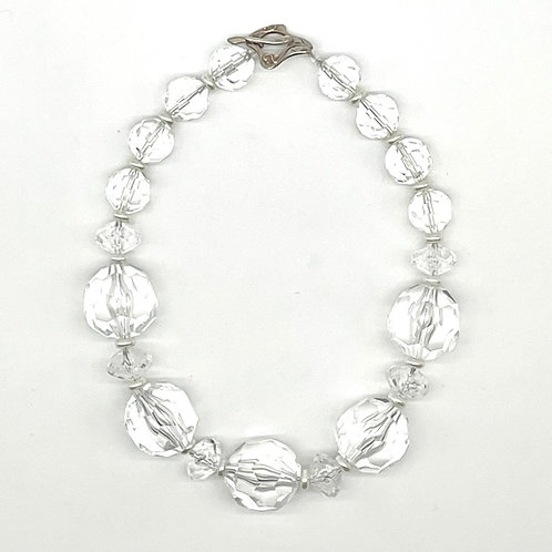 Faceted Lucite Necklace