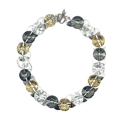 Big Tri-Color Sparkle Necklace