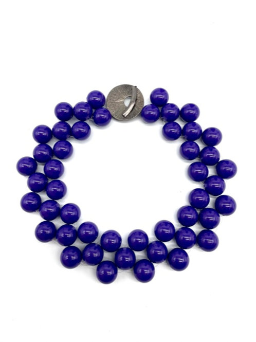"""Triple Collar with Accent Clasp- Purple (19.5"""")"""